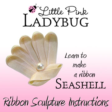 LPL Ebook - Seashell-sea, shell, seashell, beach, ocean, summer, pearl, instructions, tutorial, ebook, bow making templates