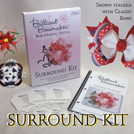 LPL Brilliant Bowmaker System - 4. Surround Loop Template-Bows, hairbows, hairbow template, hair bow template, hairbow templates, hair bow templates, make your own hairbows, Ultimate Hairbow instructions, hairbow instructions, hair bow instructions, bow template, bow templates, surrounds, surround loops, surrounds, templates, template, Brilliant Bowmaker, bowmaking template